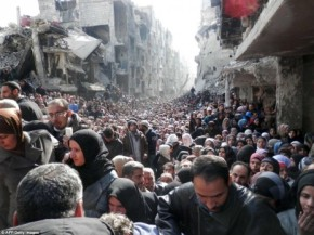 The Burden of Damascus: Massive Starving Hordes Gather Amid Rubble