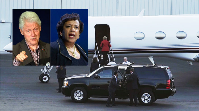 Image result for secret tarmac meeting Clinton Lynch
